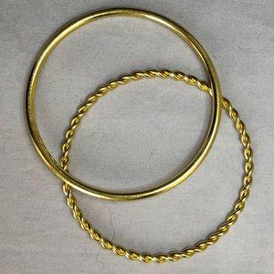 Gold Tone bangle bracelets (2)
